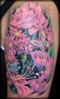 womens calf flower tattoos | Tattoo Art Show: 25+ Alluring Realistic Flower Tattoo