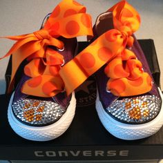 Clemson converse LOVE makes me want them for Kenna!