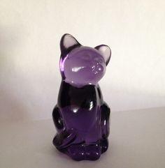 Fenton Art Glass Purple Cat Undecorated with Original Sticker by Emmascloset1 on Etsy https://www.etsy.com/listing/228529799/fenton-art-glass-purple-cat-undecorated