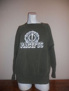 70's 80's UOP University Of The Pacific Stockton California, California Usa, University Of The Pacific, Pacific Green, Adulting, College, Sweatshirts, Etsy, Fashion