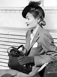 Constance Bennett travels in style.