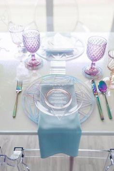 Modern Pink & Purple Iridescent Wedding Ideas via Purple Wedding, Dream Wedding, Wedding Day, Rainbow Wedding, Post Wedding, Farm Wedding, Wedding Couples, Wedding Reception, Wedding Themes