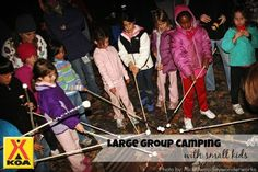 Can You Really Do This?  Large Group Camping with Young Children