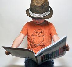 Organic Owl Toddler Tee-Pumpkin 4T