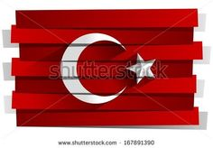 Creative Abstract Flag of Turkey Background - stock vector