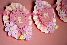 Butterflies and flowers paper girly banner