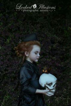 Butterfly skull girl
