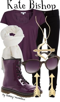 """""""kate bishop"""" by marvel-ous ❤ liked on Polyvore"""
