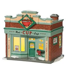 "Department 56: Products - ""Red Cup Cafe"" - View Lighted Buildings"