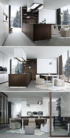 Twelve Kitchen by Carlo Colombo from Varenna Poliform