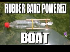 How to make rubber band powered BOAT | DIY | 2016 - YouTube