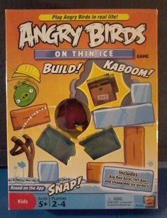 Angry Birds On Thin Ice KIDS RAINY DAY Game - Mattel New in Box 5+  Daycare #Mattel