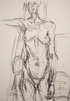 Alberto Giacometti (Swiss, People in the Studio Alberto Giacometti, Gesture Drawing, Life Drawing, Drawing Sketches, Figure Painting, Figure Drawing, Painting & Drawing, Simple Line Drawings, Cool Drawings