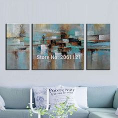 3pc Handpainted wall Art Modern Abstract Oil Painting On Canvas Home Decoration