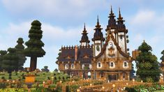 A nice view of my library : Minecraftbuilds Minecraft Bridges, Minecraft House Plans, Minecraft Cottage, Minecraft Castle, Minecraft Medieval, Cute Minecraft Houses, Minecraft Plans, Minecraft House Designs, Minecraft Survival
