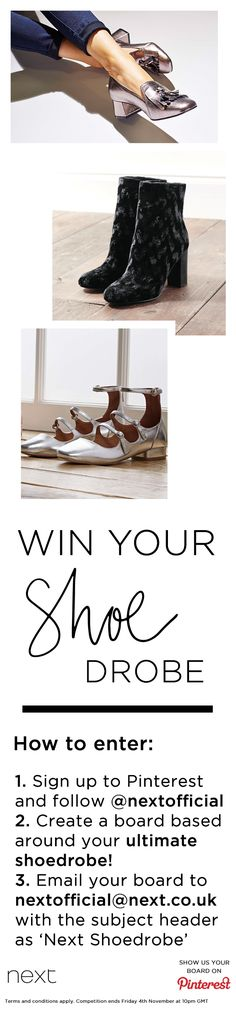 We're diggin' our NEW shoe collection so much that we thought we'd share the love with two lucky winners! To WIN £250 worth of shoes, create a board based around your ultimate shoedrobe! Tap the image for T&Cs. Comp ends 4th November.