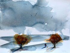 New Day — Rine Philbin Art Watercolour, oils and acrylic paintings Watercolour Painting, Watercolours, Bird Artists, Irish Landscape, Irish Art, Lilac Flowers, Flower Vases, Figurative Art, Impressionism