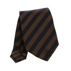 Regimental – Royal Black and Brown Stripes