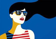 Bold, minimal style Pop Art by Malika Favre Art And Illustration, Character Illustration, Portrait Illustration, Penguin Books, Arte Pop, Art Watercolor, Ligne Claire, The New Yorker, Graphic Design Inspiration