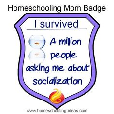 Homeschool socialization - I deserve this badge!