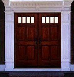 Double Entry Wood Doors solid double front door | exterior door-woodgrain fiberglass solid