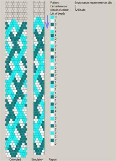 Crochet rope - 8 around - pattern. Crochet Bracelet Pattern, Crochet Beaded Bracelets, Bead Crochet Patterns, Bead Crochet Rope, Beaded Bracelet Patterns, Jewelry Patterns, Beading Patterns, Beaded Crochet, Beaded Bracelets