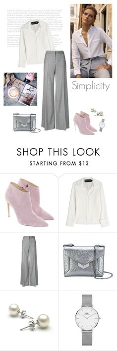 """""""Simplicity"""" by isidora ❤ liked on Polyvore featuring Ralph Lauren, Brandon Maxwell, Alexander McQueen, Jimmy Choo and Daniel Wellington"""