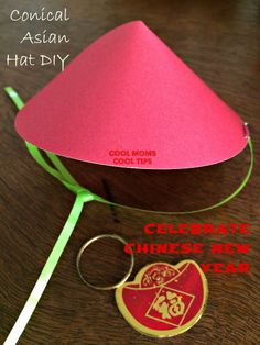 Easy and Quick DIY for Asian Conical Hats great for Chinese New Year celebrations