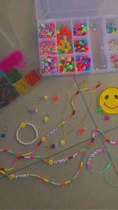 Handmade Wire Jewelry, Diy Crafts Jewelry, Fun Diy Crafts, Bead Crafts, Trendy Jewelry, Cute Jewelry, Bead Jewellery, Beaded Jewelry, Diy Necklace