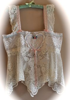 RESERVED for MRTHA Boho Victorian Style Lace Camisole  Shabby Chic French Cottage  Plus Size
