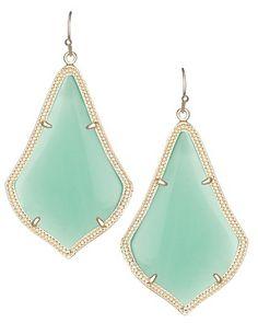 Alexandra Earrings in Chalcedony - Kendra Scott Jewelry. #mothersday