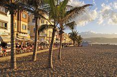 Canteras Beach in Las Palmas de Gran Canaria