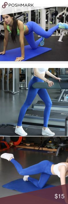 Blue Athletic Yoga Workout Leggings Product Features:  100% brand new and high quality  Style: Yoga Pants / Workout Leggings  Features: High Waist, Stretch  Occasion: Sports / Yoga / Fitness / Training /  Running / Activewear Pants Leggings