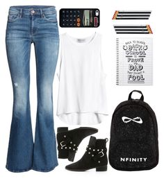 """""""back to school"""" by ecem1 ❤ liked on Polyvore featuring H&M, See by Chloé, Casetify and i am a"""