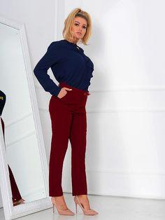 Pantaloni Dama Ruya Mood Cherry , pantalon office, pantalon casual , bluza casual , bluza office, tinuta casual , tinuta office, fashion , ootd, glow, glam Busy At Work, Work Outfits, Mood, Suits, Business, Jeans, Fashion, Moda, Outfits