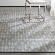Aldo Dove Grey Indoor-Outdoor 9'x12' Rug | Crate and Barrel