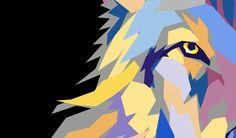 Wild Wolf. Vector artwork by Joshua Pomeroy.