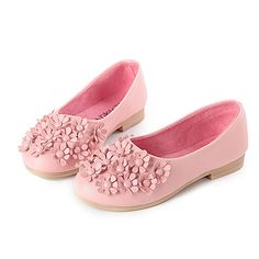 buy online 8f49a 21c24 Flats Spring Fall Ballerina Light Up Shoes PU Casual Flat Heel Flower Black  Pink Red White Other