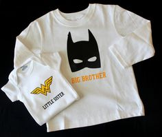 Big Brother Little Sister Batman and by LailaLooCreations on Etsy