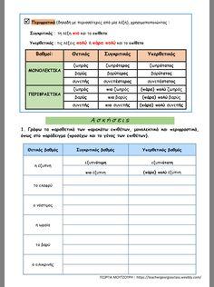 Special Education, Literature, Greek, Exercise, Teaching, School, Nature, Literatura, Greek Language