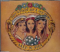 """For Sale - Salt N Pepa Ain't Nuthin' But A She Thing Germany  CD single (CD5 / 5"""") - See this and 250,000 other rare & vintage vinyl records, singles, LPs & CDs at http://eil.com"""
