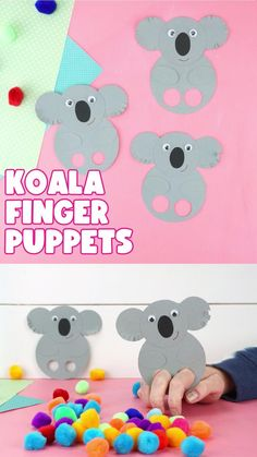 Get ready for an afternoon full of fun making and playing with these adorable koala finger puppets! Our handy free template makes creating these koala puppets super easy for kids to make. Halloween Crafts For Toddlers, Animal Crafts For Kids, Winter Crafts For Kids, Crafts For Kids To Make, Toddler Crafts, Preschool Crafts, Easter Crafts, Koala Craft, Puppets For Kids