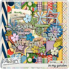 Quality DigiScrap Freebies: In My Garden full kit freebie from Bella Gypsy Designs