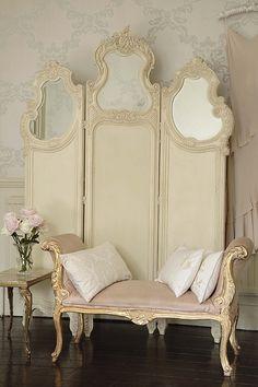1920s velvet dressing screen