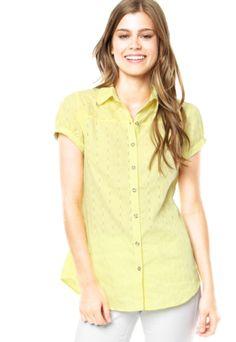 Camisa Mooncity Metal Amarela - Compre Agora | Dafiti Brasil