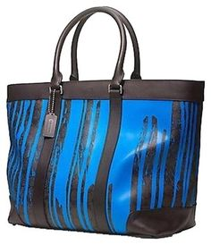 Coach Brown Cobalt Travel Bag