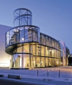 curve tempered glass facade - Google Search