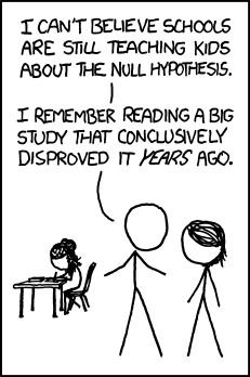 xkcd: Null Hypothesis | Statistics- Bayes or Fr...