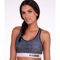 a4a903e826 Under Armour Printed Armour Mid Control Sports Bra ( 20) ❤ liked on  Polyvore featuring
