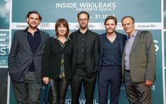 Alexander Beyer, Franziska Walser, Daniel Domscheit-Berg, Daniel Brühl, Edgar Selge, INSIDE WIKILEAKS Premiere im Kino in der Kulturbrauere...